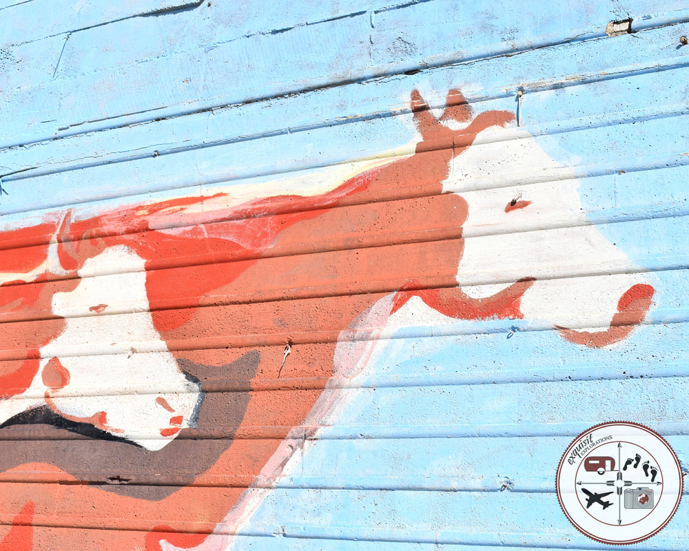 Street Art Around the World; Pinedale, WY; Cattle Crossing, Colorful Murals
