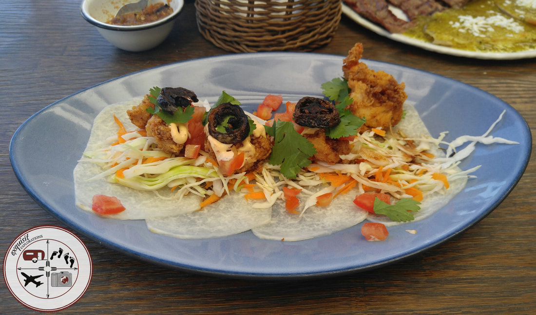 Jicama Shrimp Tacos in Piedras Negras, Coahuila, Mexico; food blog, travel blog, yummy food, delicious