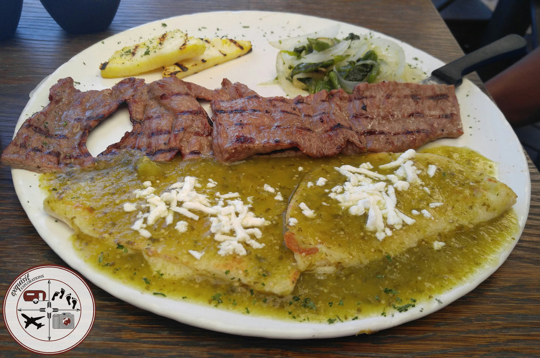 A delicious steak plate in Piedras Negras, traveling foodies, food in Mexico, Mexican border towns