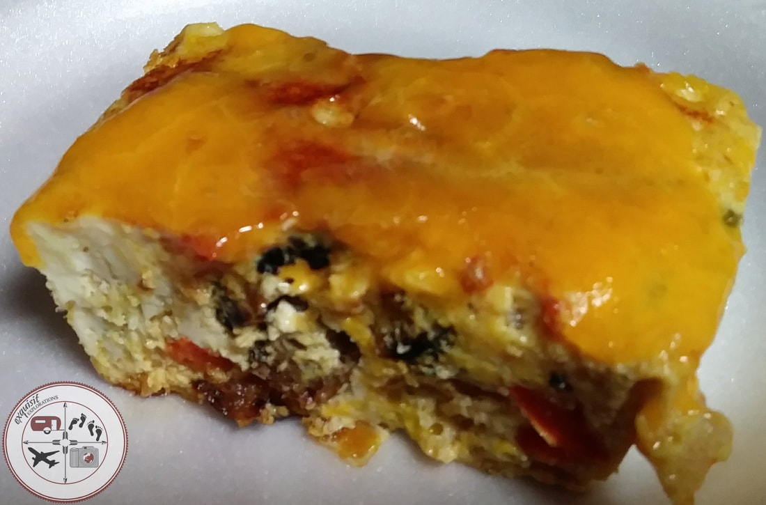 Easy, Spicy Baked Egg Breakfast Casserole - DELICIOUS!