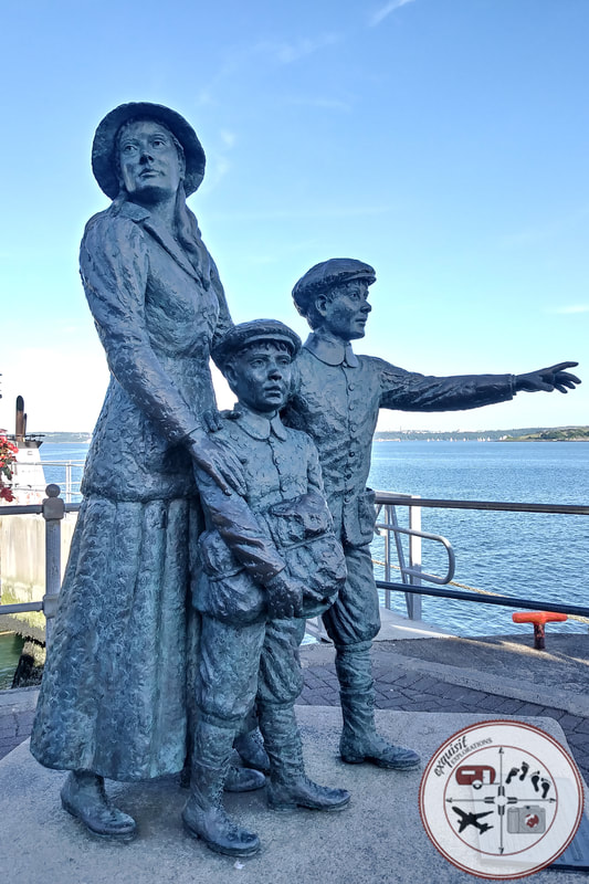 Annie Moore Statue, Cobh, Ireland; things to see in Cobh; ultimate Ireland Road Trip