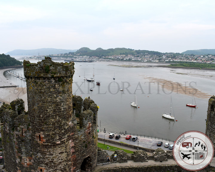 Conwy Castle, Wales; travel tips by exquisitEXPLORATIONS Travel Blog; beautiful views