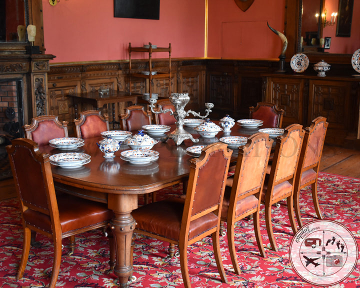 Two Easy Day Trips from Dublin: Dalkey and Skerries - A Tale of Two Castles - Travel Tips by exquisitEXPLORATIONS Travel Blog, The Small Dining Room in Ardgillan Castle