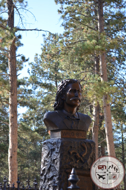 Memorial for Wild Bill Hickok, Mount Moriah Cemetery, Mt. Moriah Cemetery, Deadwood, SD, South Dakota Itinerary, Ultimate South Dakota Road Trip, Road Trip Through South Dakota, Travel, RV lifestyle, RV living