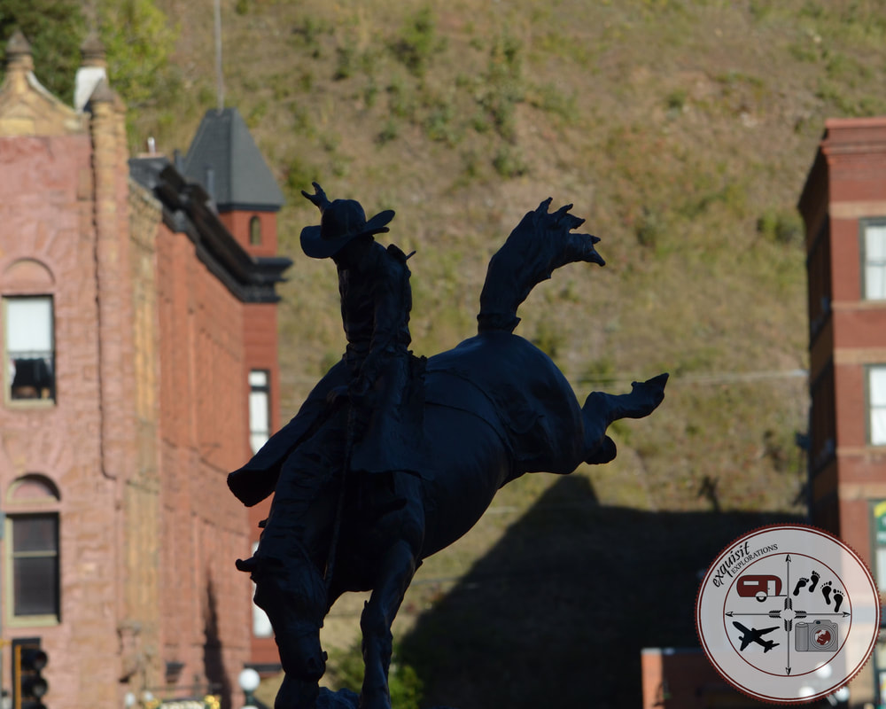Deadwood, SD, Cowboy Statue, Wild Bill Hickok, South Dakota Itinerary, Ultimate South Dakota Road Trip, Road Trip Through South Dakota, Travel, RV lifestyle, RV living