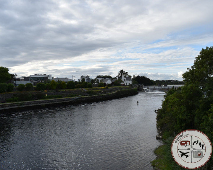 River Corrib, Galway, Ireland; an Ireland road trip itinerary by exquisitEXPLORATIONS Travel Blog