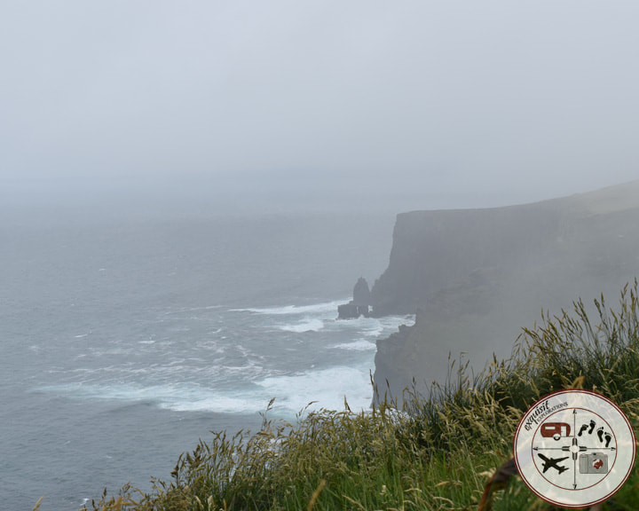 Fog rolling back over the Cliffs of Moher, travel photography, travel photos