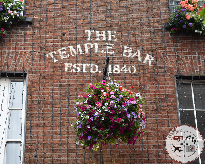 The Temple Bar, Dublin; a road trip itinerary for Ireland; exquisitEXPLORATIONS Travel Blog