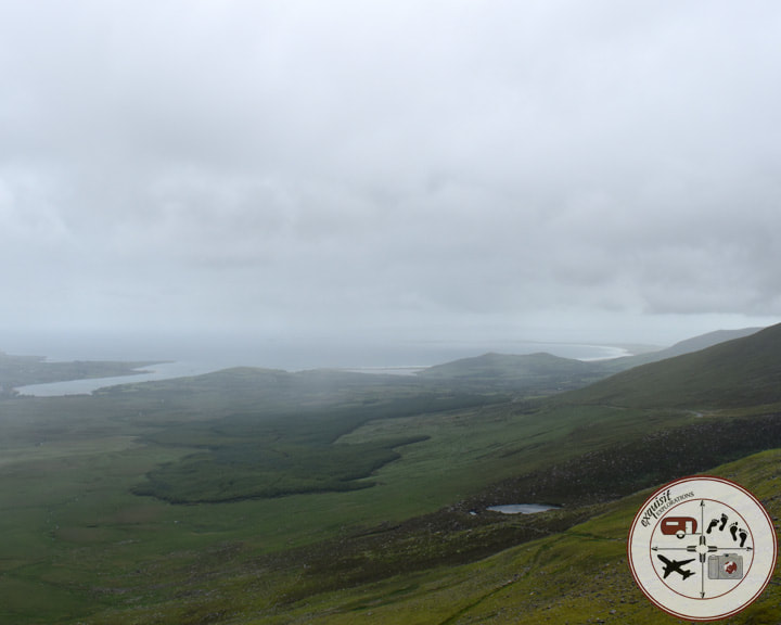 View of the Valley near Connor Pass, Dingle Peninsula; the ultimate Ireland road trip