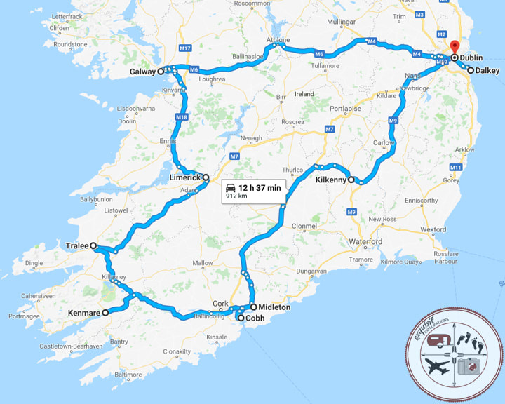 Where to Stay in Ireland on Your Ultimate Ireland Road Trip; Ireland Road Trip Itinerary by exquisitEXPLORATIONS Travel Blog