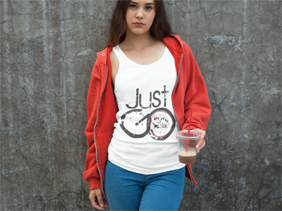 Just GO: Women's Tank Top in White #unisexclothing #womensclothing #travelgear #travelclothes