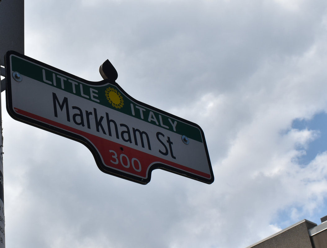 Little Italy, Toronto, Ontario #streetsigns #littleitaly #ontariocanada #thingstodo #placestogo
