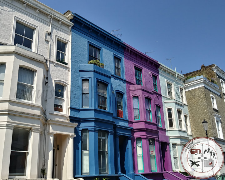 Colorful houses abound in Notting Hill; Instagram-worthy places in London; things to do in London