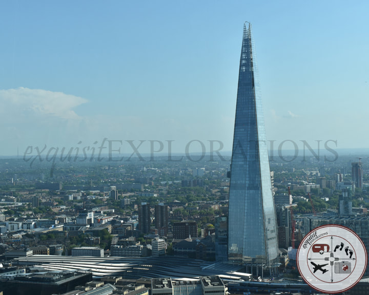 The Shard from Sky Garden; travel tips by exquisitEXPLORATIONS; budget travel; views of London