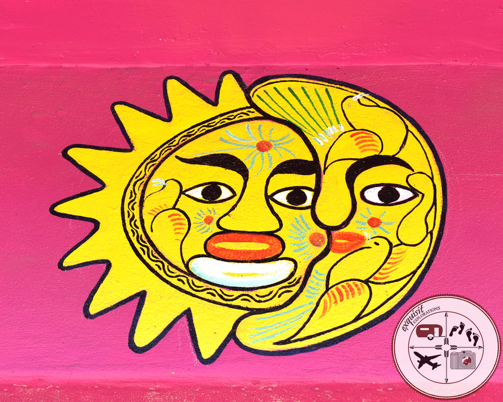 Tijuana, Baja California, Mexico; Sun and Moon; Colorful Murals; Street Art Around the World; exquisitEXPLORATIONS