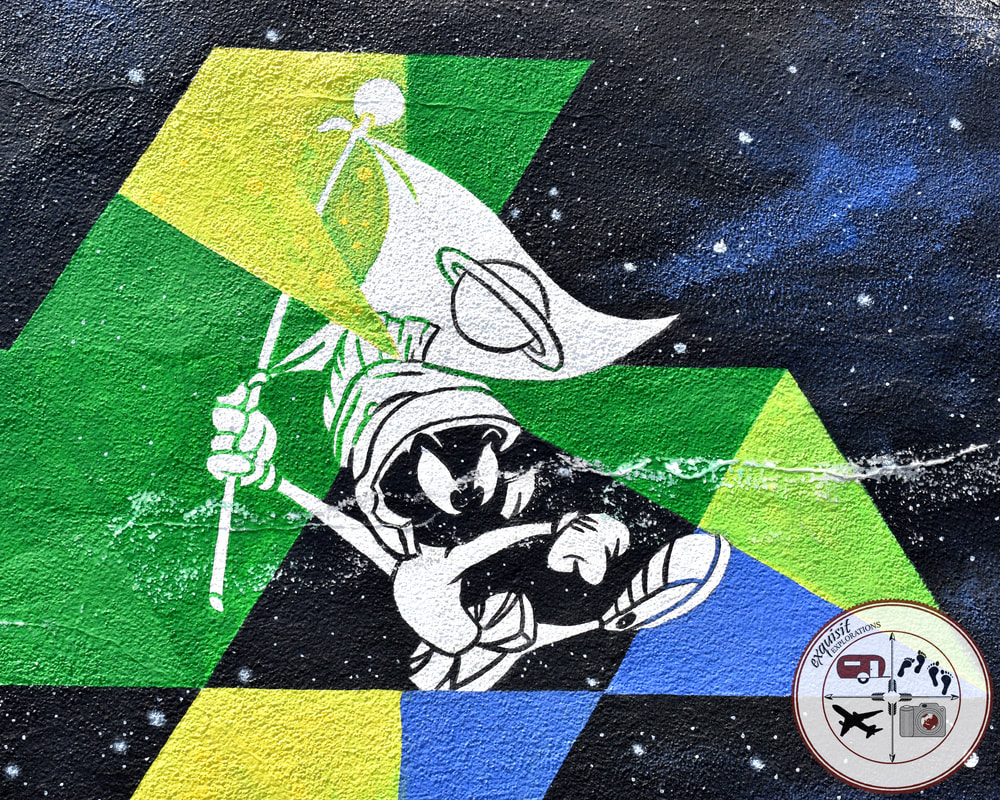 Marvin the Martian, Little Italy, San Diego, CA; Street Art Around the World; Colorful Murals, Graffiti