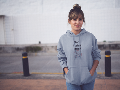 Work - Explore - Repeat: Women's Hooded Sweatshirt in Gray #womenssweatshirt #womenshoodie #womenswinterclothing #travelhoodie